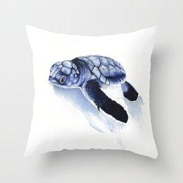 Baby Sea Turtle Watercolour Throw Pillow