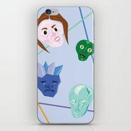 Strange Faces Make Me Happy iPhone Skin