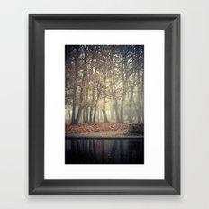 Trees in mist Framed Art Print