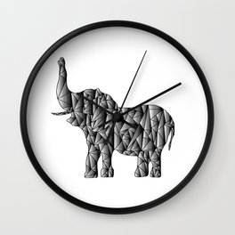 Gradient Elephant - Monochromatic Animal Wall Clock