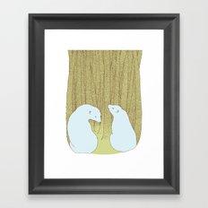 bears in the forest Framed Art Print