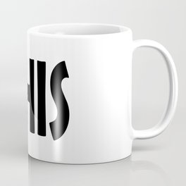 Fuck THIS Humping Stickman Black Typography Sarcasm Humor Coffee Mug