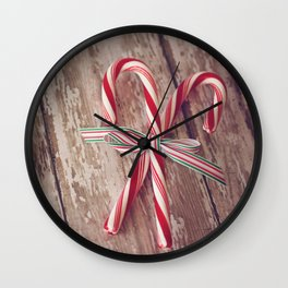Candy Canes 2 Wall Clock