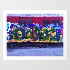 QUONE Train Piece Art Print