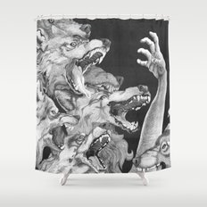 The Wolves are Coming Shower Curtain