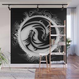 Yin and Yang Dragons Wall Mural