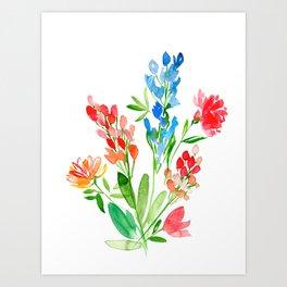 Fleurs de contraste Art Print