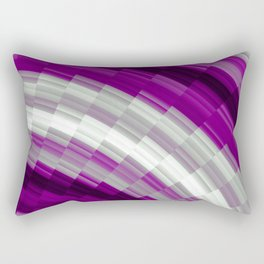 Asexual Pride Staggered Fanned Gradient Stripes Rectangular Pillow