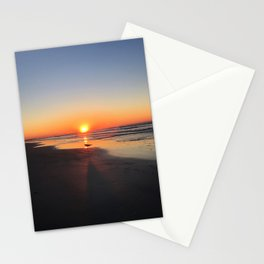 Lone Gull at Sunrise Stationery Cards
