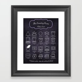 The Laundry Room Fabric Care Guide - Purple Framed Art Print