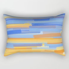 Orange and Blue Stripes Rectangular Pillow