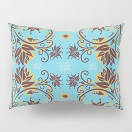 Abstract floral ornament Pillow Sham