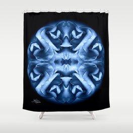 Blue Rose Mandala Shower Curtain