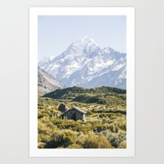 The Hut with the best view of Mt Cook Art Print