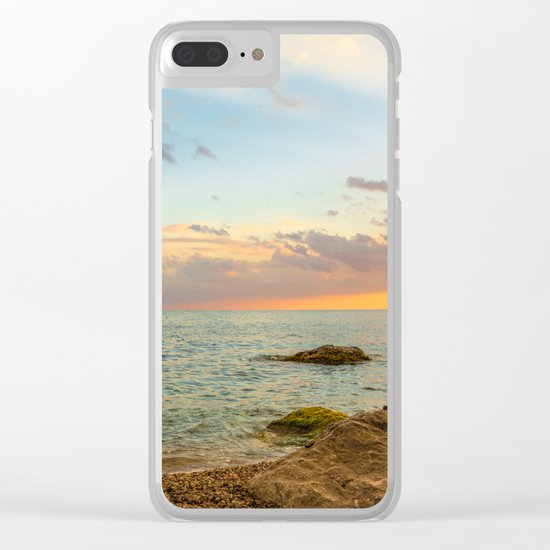 Gentle Sunset Clear iPhone Case