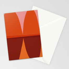 Orange and Pink Eliptical Stationery Cards