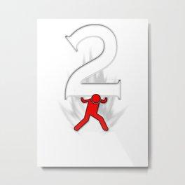 Super Icon Number 2 Metal Print