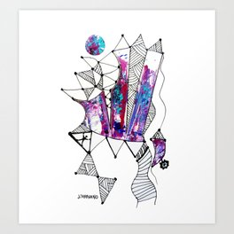 Castillo (Cristales) / White background Art Print