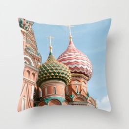 St Basil's Cathedral on the Red Square | Moscow | Travel photography art print photo Throw Pillow