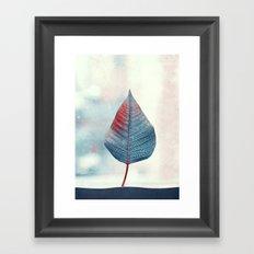 blue heart Framed Art Print