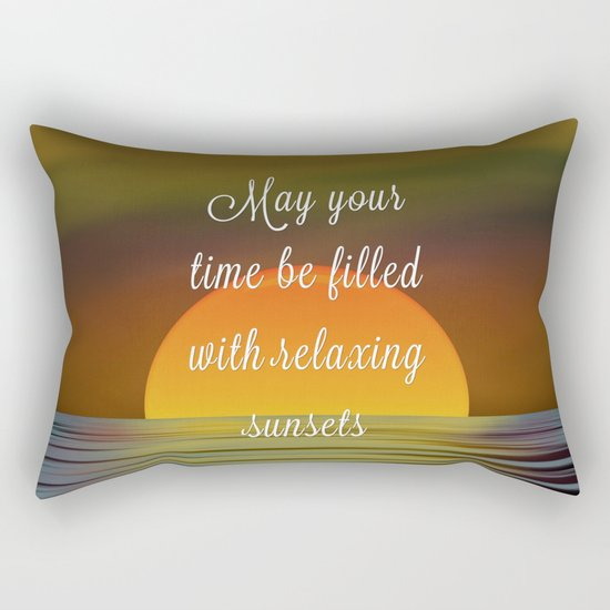 Relaxing Sunsets Rectangular Pillow
