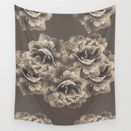 Sepia Peony Flower Bouquet #1 #floral #decor #art #society6 Wall Tapestry