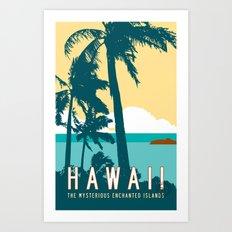 Hawaii Travel Poster Art Print