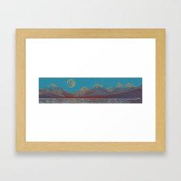 lake mcdonald poster 3 Framed Art Print