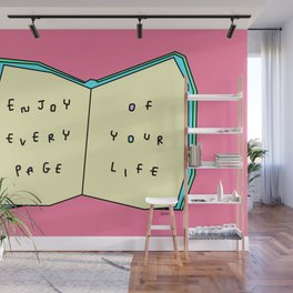 Words from a Colorful Book - inspirational quote illustration Wall Mural