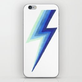 Blue Bolts iPhone Skin
