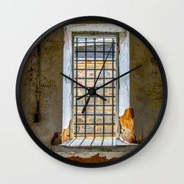 Behind Steel Bars Wall Clock