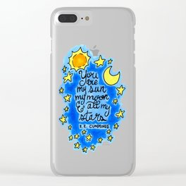 Sun, Moon, and Stars Clear iPhone Case