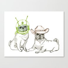 Cowboys & Aliens Canvas Print