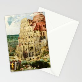 The Tower of Babel by Pieter Bruegel the Elder, 1563 Stationery Cards