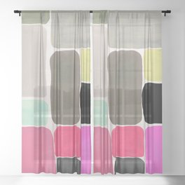 colour + pattern Sheer Curtain
