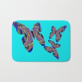 Butterfly Blue Bath Mat