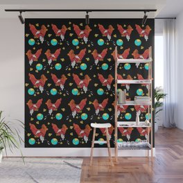Drop the World Pattern Wall Mural