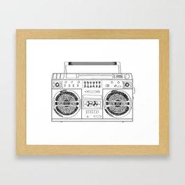 Boooombox Framed Art Print