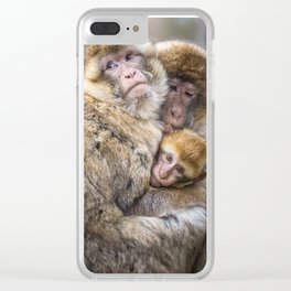 Cuddling Family Clear iPhone Case