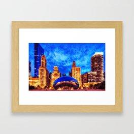 Chicago Panorama Framed Art Print
