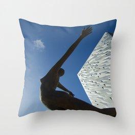 Angel Of Shipbuilding Throw Pillow