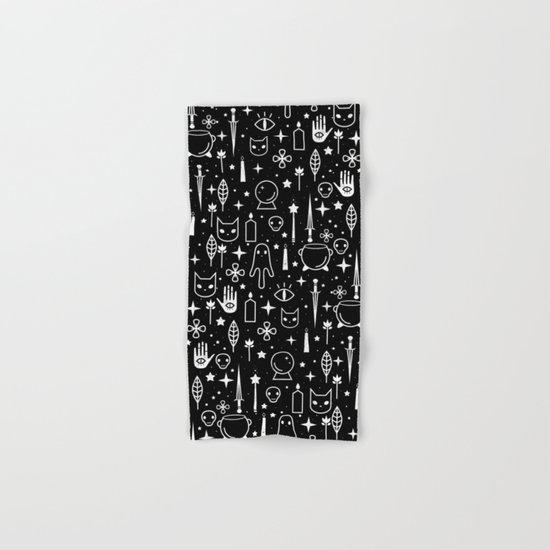 Spirit Symbols Black Hand & Bath Towel