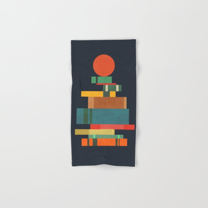 Book stack with a ball Hand & Bath Towel