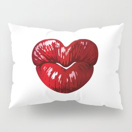 Heart Shaped Lips Pillow Sham