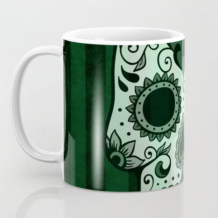 Día de los Muertos in Emerald Green Coffee Mug