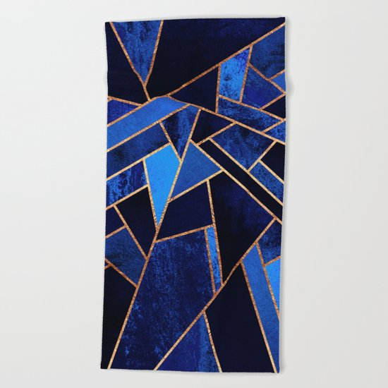 Blue Night Beach Towel