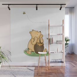 Classic Pooh with Honey - No background Wall Mural