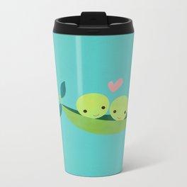 Two Peas in a Pod Metal Travel Mug