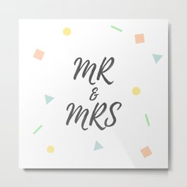 MR and MRS Metal Print