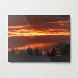 The Clouds are on Fire Metal Print